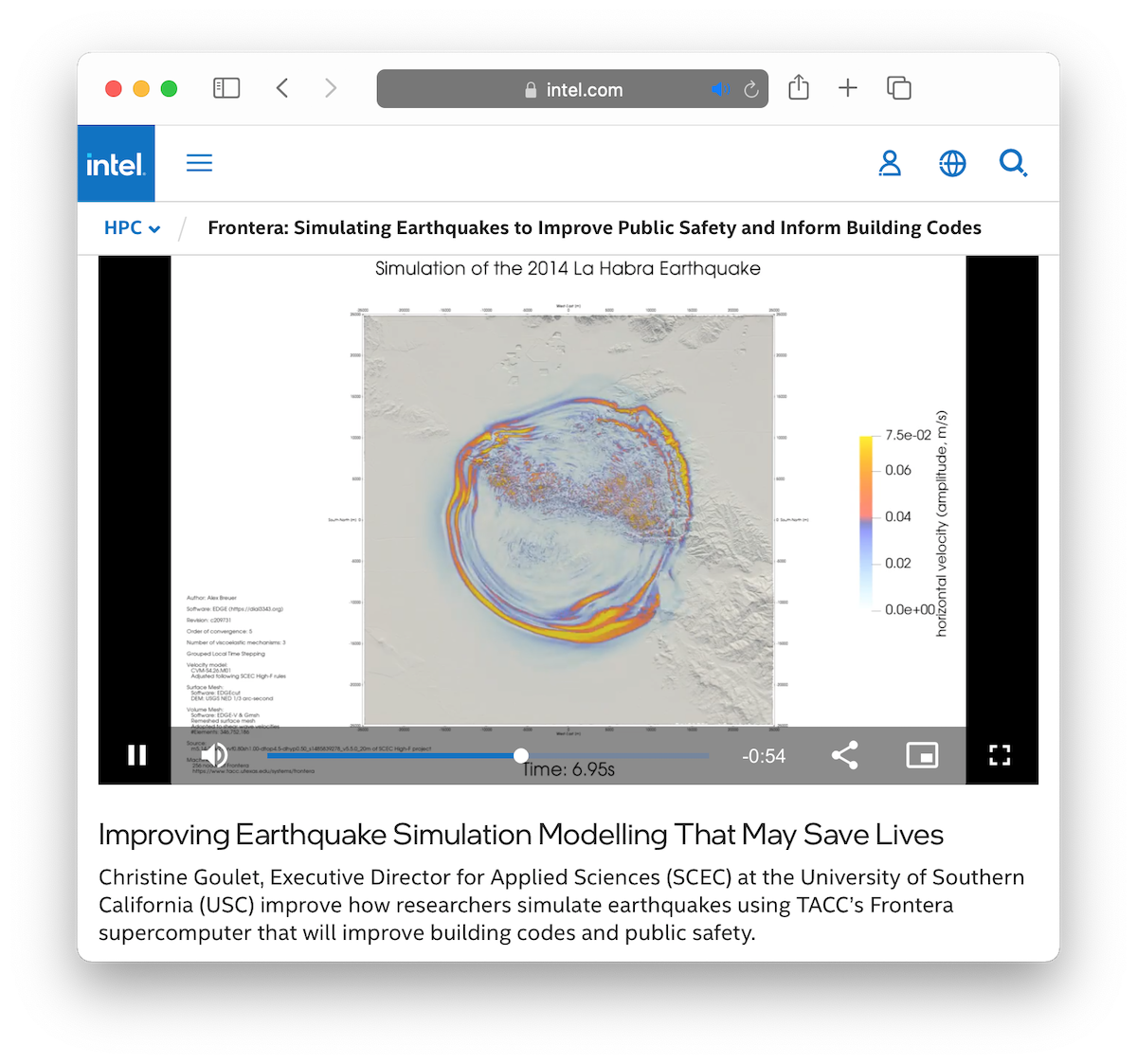 Improving Earthquake Simulation Modeling That May Save Lives